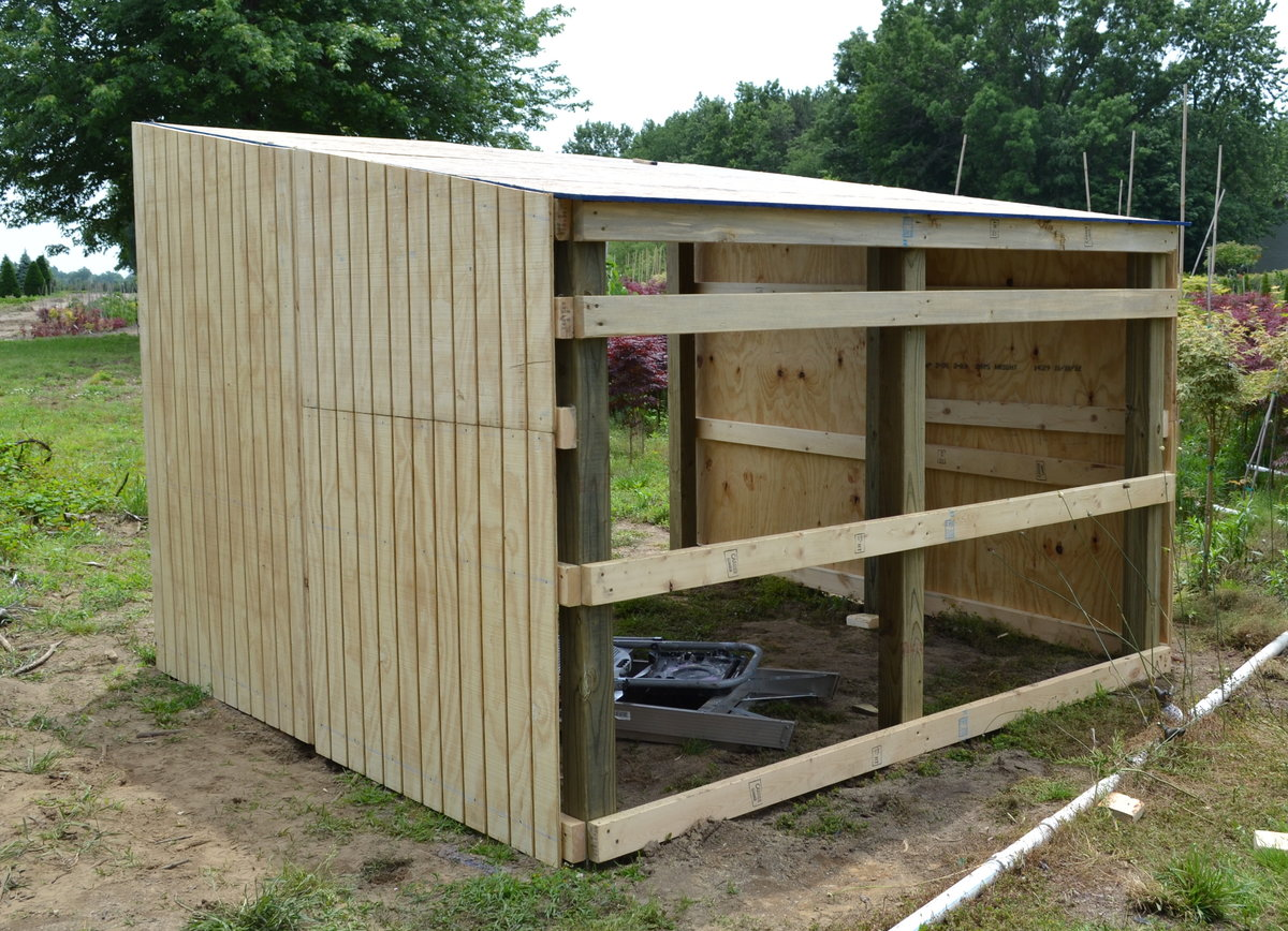 Building Shelter For Miniature Donkeys Or Goats Mike S Backyard Nursery