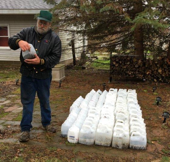 Roger Higgins explains how to make mini greenhouses for sowing seeds.